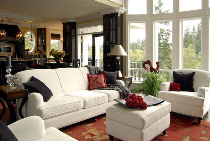 Traditional couches living room